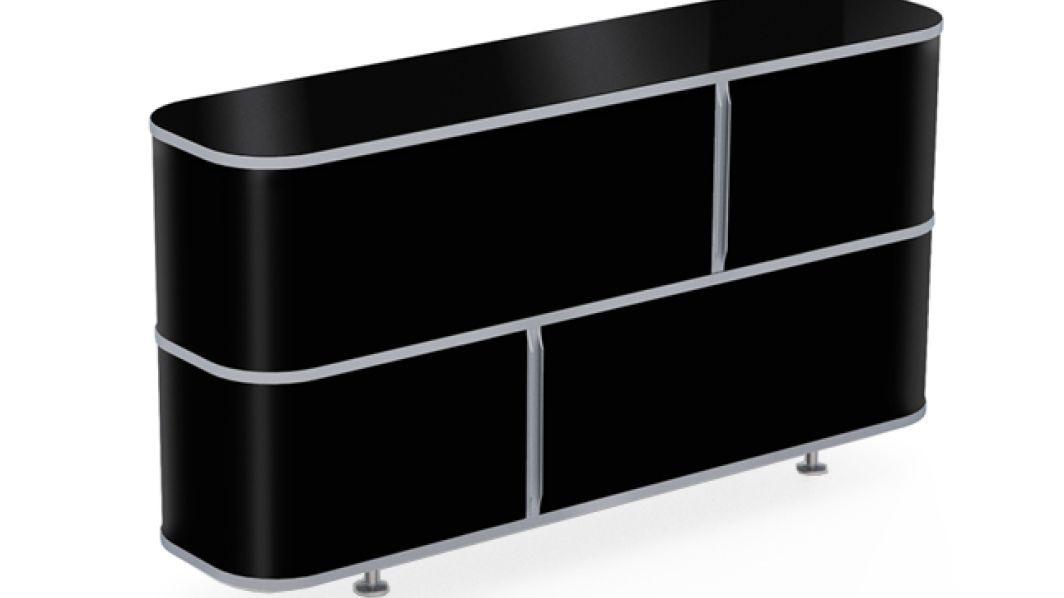 wogg liva classicboard 002 melamin schwarz. Black Bedroom Furniture Sets. Home Design Ideas